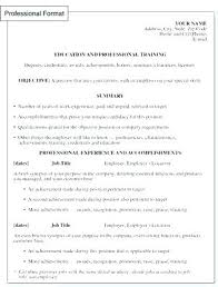 Resume Format Word Resume Format For Professional Professional ...