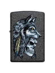 <b>Зажигалка Wolf</b> Skull с покрытием Iron Stonе <b>Zippo</b> 8632872 в ...
