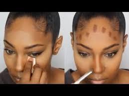 how to contour highlight foundation for black women makeup tutorial