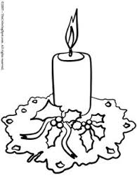 Small Picture christmas candle coloring pages Free Coloring Pages and