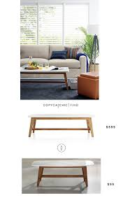 Crate And Barrell Coffee Table Crate And Barrel Cliff Coffee Table Copy Cat Chic