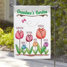 personalized grandma s flower garden flag