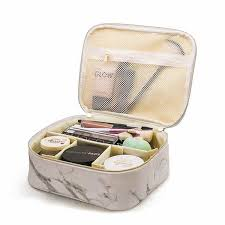 travel makeup cosmetic bag toiletry case marbling pouch wash organizer storage high quality pu leather wash