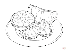 Small Picture Citrus Fruits coloring page Free Printable Coloring Pages
