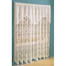 curtains with attached valances com anna lace curtain panel valance