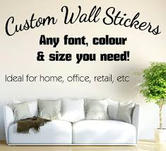 wall text decals personalised wall sticker custom vinyl decals personalised wall sticker custom text wall decals