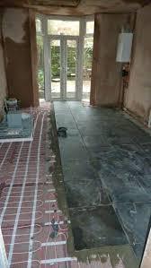 In Floor Heating System Under Tile Shower Underfloor Installation