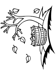 Small Picture Fall Tree Coloring Pages Miakenasnet