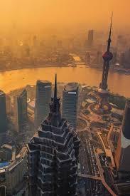 chinese metropolis sunset cityscape iphone 5 wallpaper