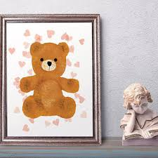 teddy bear teddy bear art print wall art nursery print nurse on teddy bear wall art for nursery with shop teddy bear nursery decor on wanelo