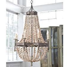 candelabra regina andrew scalloped wood bead chandelier