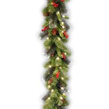 Lighted Decorated Garland Lighted Christmas Garland With Ornaments Khrdqz