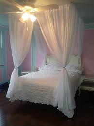DIY Bed Canopy Kit - Custom Shabby Ceiling Suspended Hanging Four Poster Bed  Wire Curtain Rod Chic Privacy Bedroom Decor Princess Crown Tent