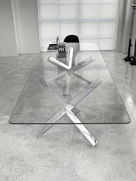 aikido  sovet italia large dining table  glassdomain