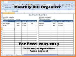 Excel Monthly Bill Tracker Excel Bill Tracker Under Fontanacountryinn Com