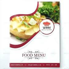 Restaurant Cafe Menu Template Design Food Flyer Bar