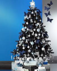 christmas trees decorated in blue. Unique Blue Black With Blue Christmas Tree Decoration Ideas Intended Trees Decorated In Blue T