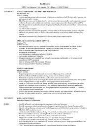 Paramedic Sample Resume Flight Paramedic Resume Samples Velvet Jobs 7