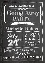 going away party invitation going away party invitation for the