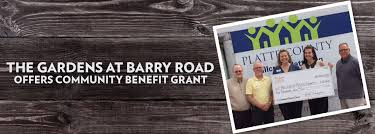 the gardens at barry road offers community benefit grant post featured image