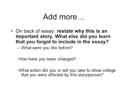 comma pre test ivcc edu eng practice comma quiz htm  on back of essay restate why this is an important story