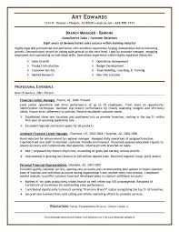 Branch Manager Resume Banking All Likewise Besamplebanking