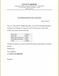 Salary Slip Format Word Doc New 6 Salary Certificate Letter Pdf