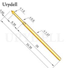 100pcs hot sale pm75 j1 brass metal spring pressure test probe 1 02mm diameter 0 74mm accessories