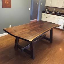 Black Walnut Dining Table With Trapezoid Legs Walnut Dining Table - Walnut dining room furniture