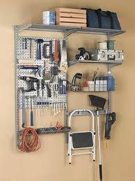 tool organizer in garage storage racks