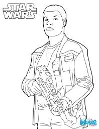 Small Picture Finn coloring page from the new Star Wars movie The Force Awakens