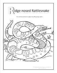 Ridge Nosed Rattlesnake Coloring Page At