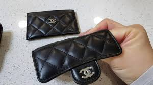 chanel card holder. chanel wallet versus card holder case in lambskin - comparsion and review