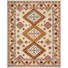 safavieh bohemian pattern multi ivory area rug 8x10 hand tufted