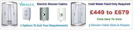 pure e electric shower cabins