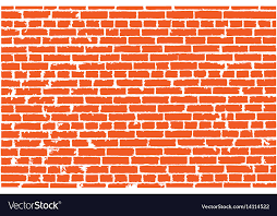 texture of red old brick wall vector image