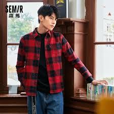 <b>SEMIR</b> Long Sleeve <b>Shirts</b> Men 2021 Autumn New Casual Student ...