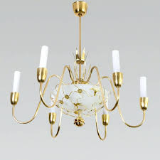 chandelier with birds a modern mid century polished and lacquered six arm chandelier with a birdcage