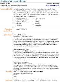 Nursery Nurse Cv Example Learnist Org
