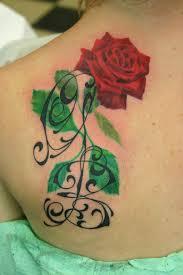Red Rose Tattoo With Initials Rosa Rossa Tatuaggio Con Iniziali