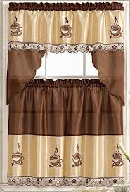 Kitchen Curtains With Coffee Theme