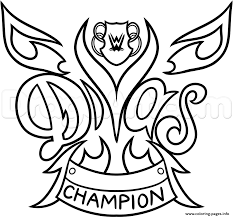 Small Picture WWE Diva Championship Belt Nikki Bella Wrestling Coloring Pages