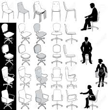 isometric office furniture vector collection. Clever Business Office Chairs In Architecture Technicaland Or Drawings Stock Vector Collection As Wells Isometric Furniture