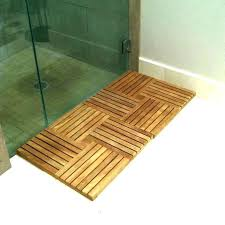 teak shower floor wood inserts insert mat parquet deck tiles hardwood large