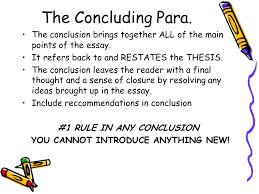 your handy dandy guide to organizing a proper paragraph essay   1 rule in any conclusion you cannot introduce anything new