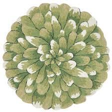woodside crown bloom green 3 ft indoor outdoor round area rug