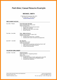 6 College Student Resume For Part Time Job Resign Latter