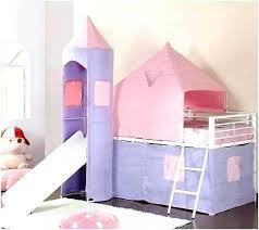 Girls Bunk Bed With Slide Loft Bed Tent Girls Loft Bed With Slide ...
