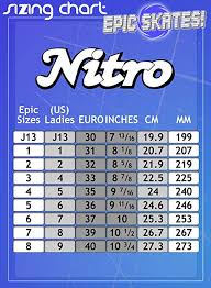 Epic Skates Size Chart Epic Skates Nitro Turbo Indoor Outdoor Quad Speed Roller Skates