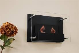 black wall mounted gel fuel fireplace
